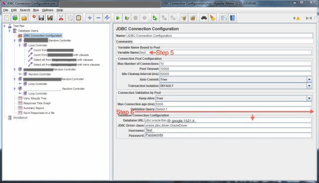 Setting up JMeter and JDBC Oracle Connection and Testing